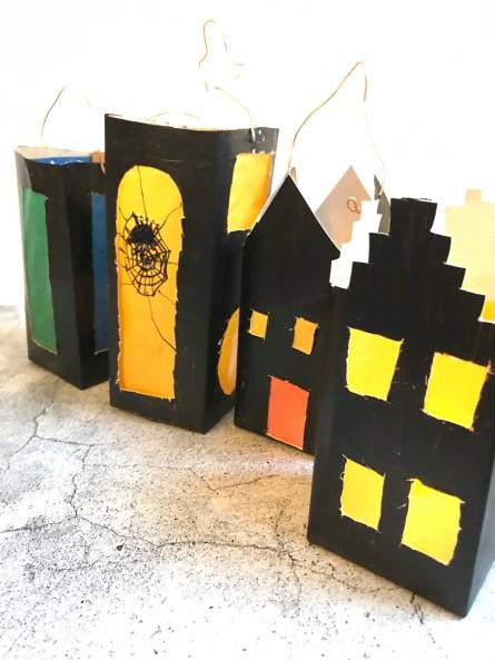 Laternen aus Tetrapacks basteln - schnelles Upcycling ich als lichthöuschen als Adventsdeko