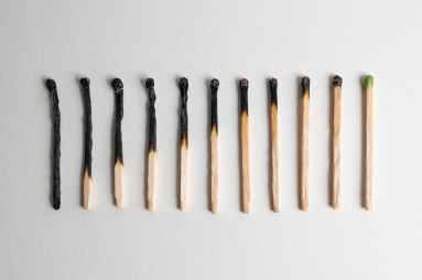 white and brown cigarette sticks