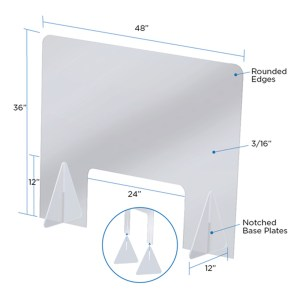 "Safety Shield 48"" x 36"""