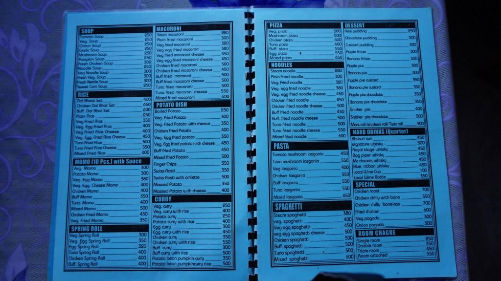 Przykładowe menu