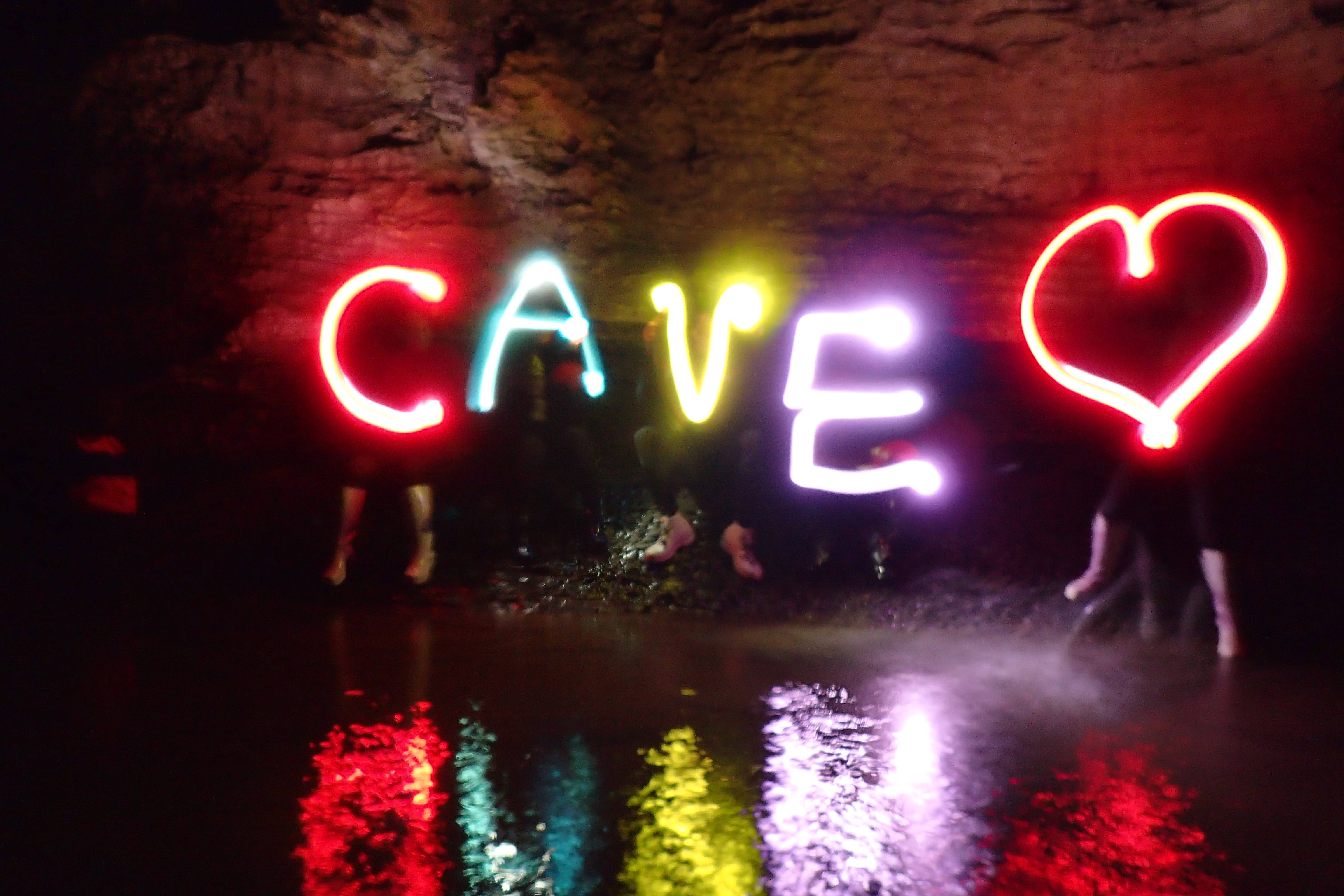 We love caving