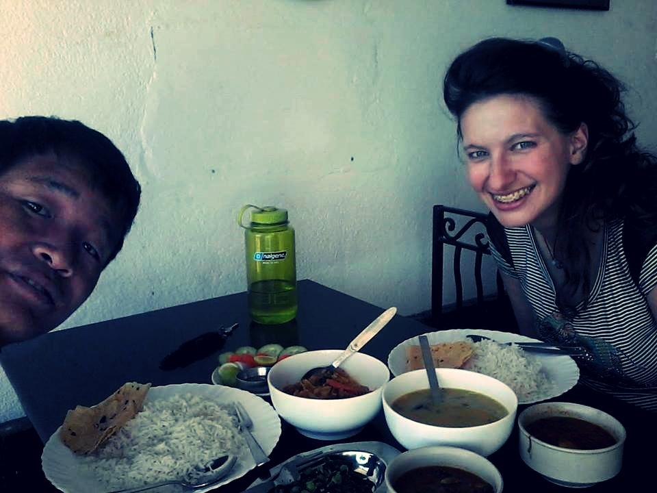 Z Nepalczykiem na obiedzie