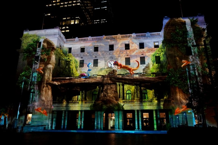 Customs house during Vivid Sydney Festival