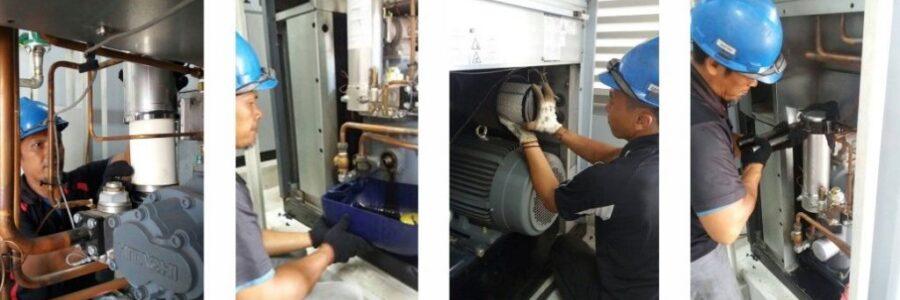 Kami melayani permintaan pemeliharaan kompressor udara yang bersifat preventif secara berkala, guna mencegah kerusakan tak terduga pada mesin.