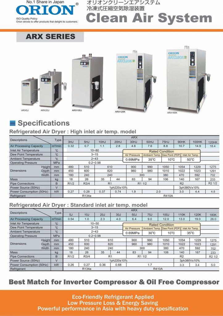 Rental Air Dryer di Jakarta Merek Orion