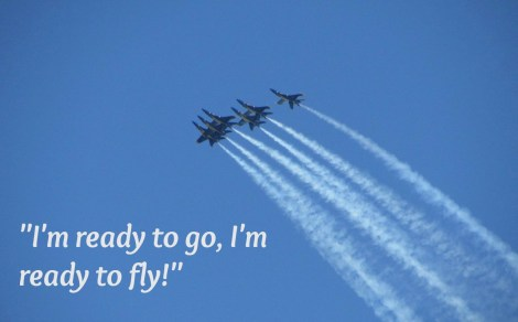 Quote from a little girl with a winning attitude: I'm ready to go, I'm ready to fly.