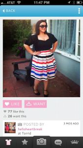 Image of a woman showcasing her style on the Beaucoo fashion app