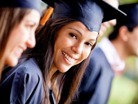 Image of happy woman at her graduation