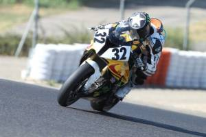 Image of Janine Davies on her Superbike - BMW S1000RR