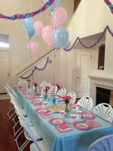 Table set for a fairy tale tea party