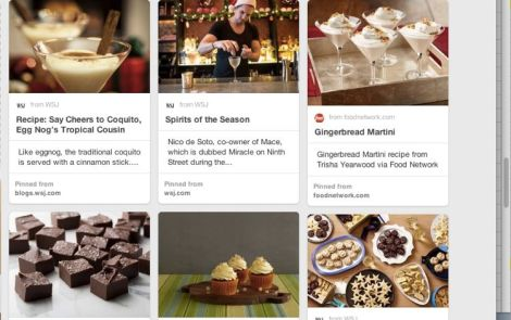 Image of Pinterest Board with Desserts, Drinks & Pies