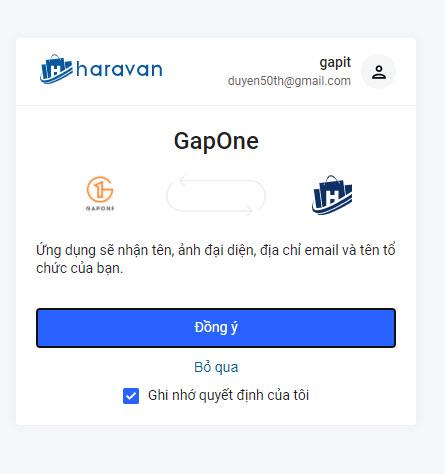 Cài đặt ứng dụng GAPONE qua chợ ứng dụng Haravan