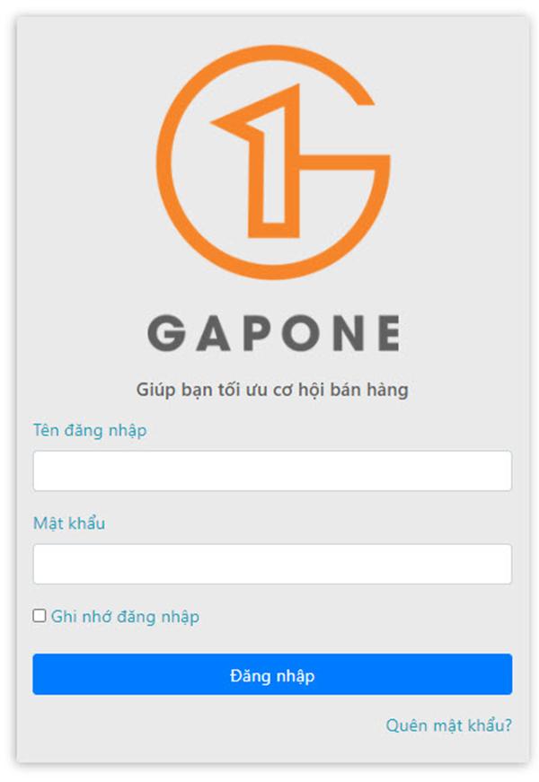 Đăng nhập GAPONE