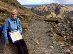 Resting at Stickle Tarn 1