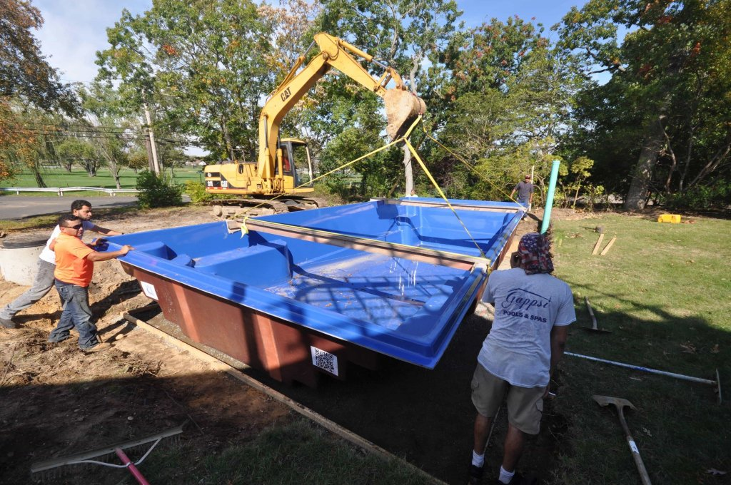 fiberglass pool installation Lawernce ny 11559 by Gappsi