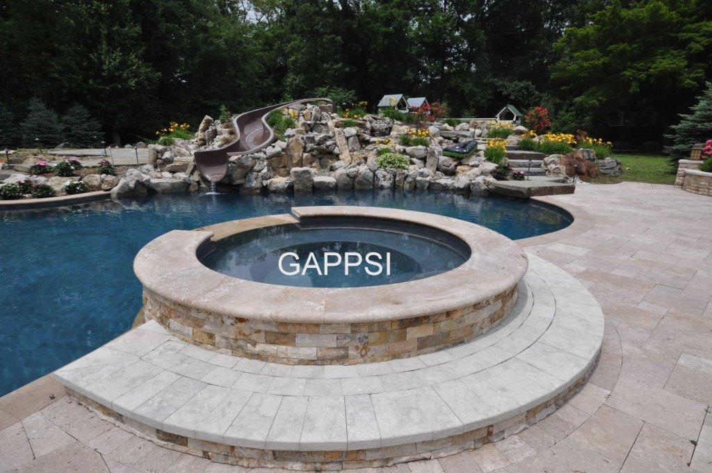 Gunite spillover spa long island-Gappsi 1