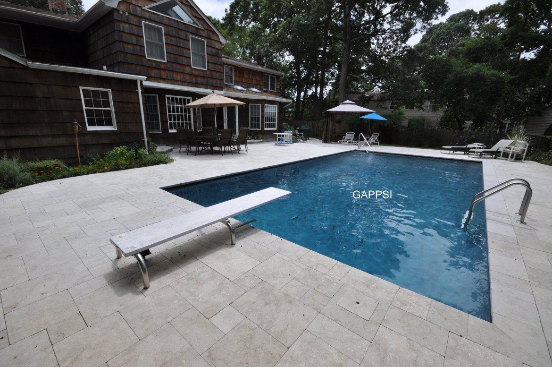gray marbledust finished gunite swimming pool oakdale ny
