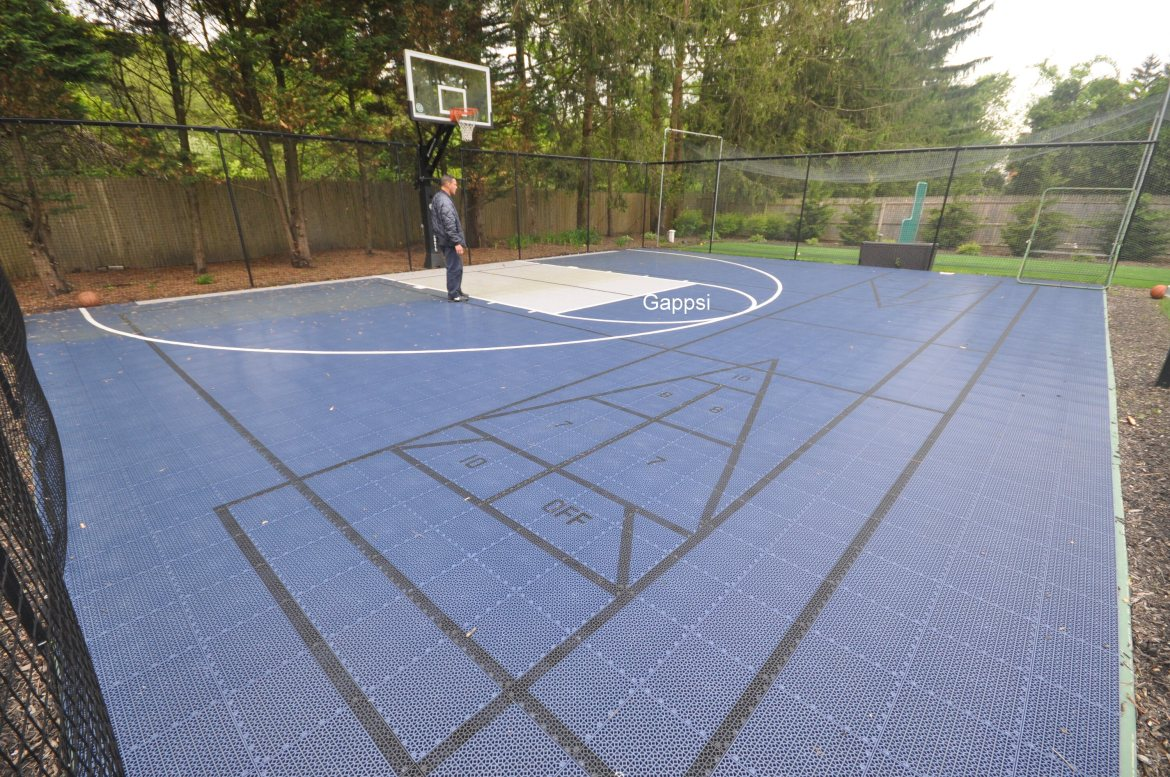 Snap-Sports Basket ball court Costructed in Dix Hills NY- Gappsi