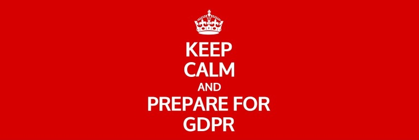 Image with text saying 'Keep calm and prepare for GDPR'