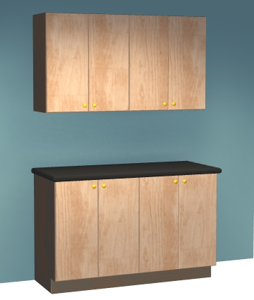 just five sheets of plywood are all you need for this easy 5 pc garage cabinet plan