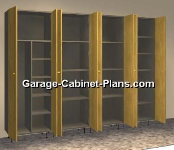 Plywood Garage Storage Towers 8 Ft