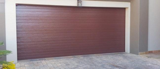 Brown Slat Aluzinc Garage Door