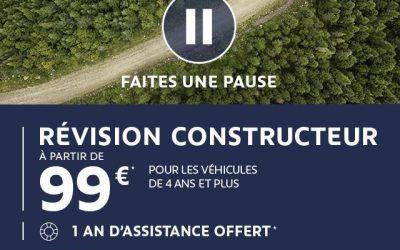 Révision constructeur à partir de 99€