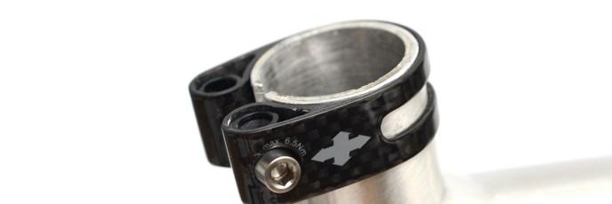 軽量のSEAT CLAMP(シートクランプ)「TRID DESIGN(トリッドデザイン)TRID WEIGHT WEENIE CLAMP(トリッドウェイトウィーニークランプ)Carbon with Ti bolt(カーボン チタンボルト)31.8mm(10g)10g」