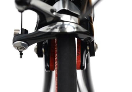 自転車のブレーキシューから異音、トーイン調整「Shimano DURA-ACE(シマノ デュラエース)BR-9000」