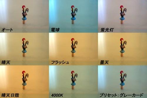D800撮影時のホワイトバランス調整テストと「グレーカード」「CBL LENS」「ColorChecker」比較