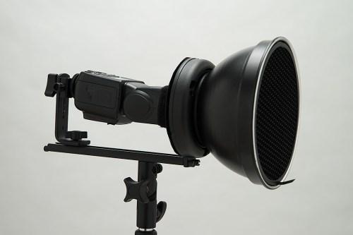 「V850×1+自作トレペグローブ」ストロボ直射&18cmリフ&オパF値計測