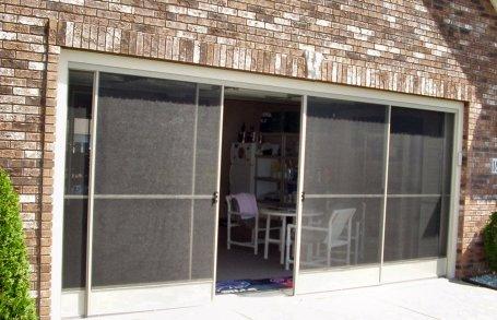 garage screen door patio enclosure