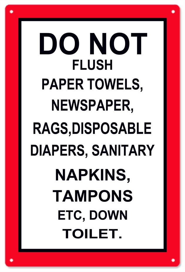 Do Not Flush Bathroom Sign Reproduction Vintage Signs