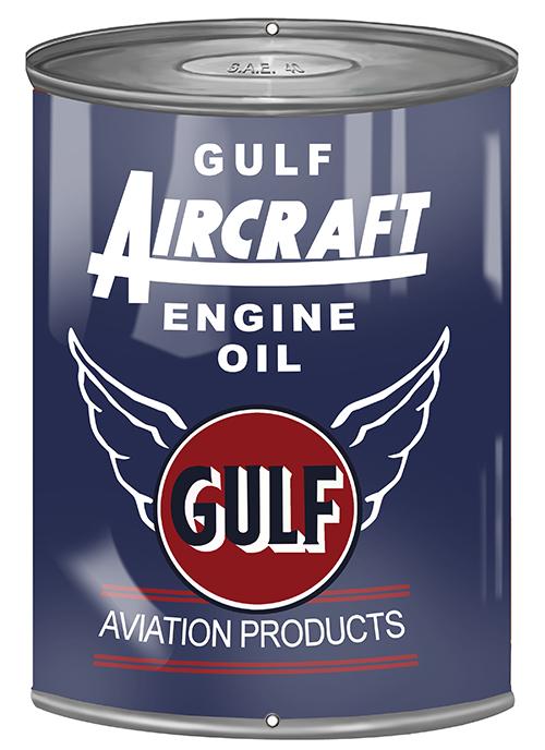Gulf Aircraft Motor Oil Can Cutout Sign 7 1 4 X 10 1 2