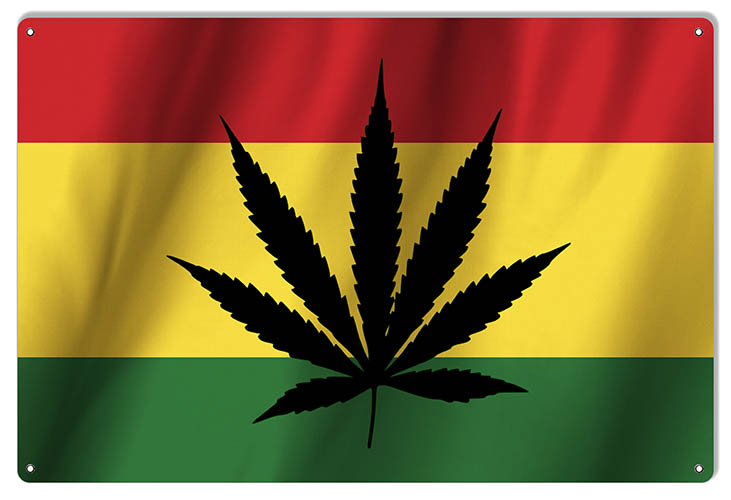Large Reggae Marijuana Cannabis Sign 16×24 | Reproduction Vintage Signs