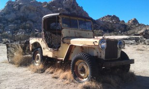 Yellow Willys Jeep Desert Queen Ranch Joshua Tree