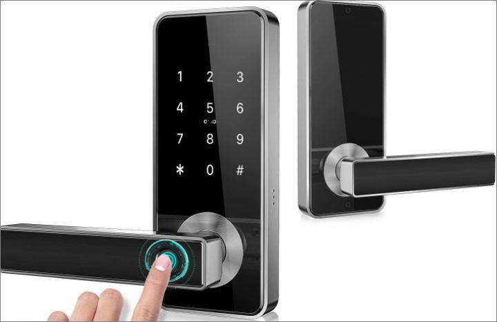 fingerprint garage door security locks