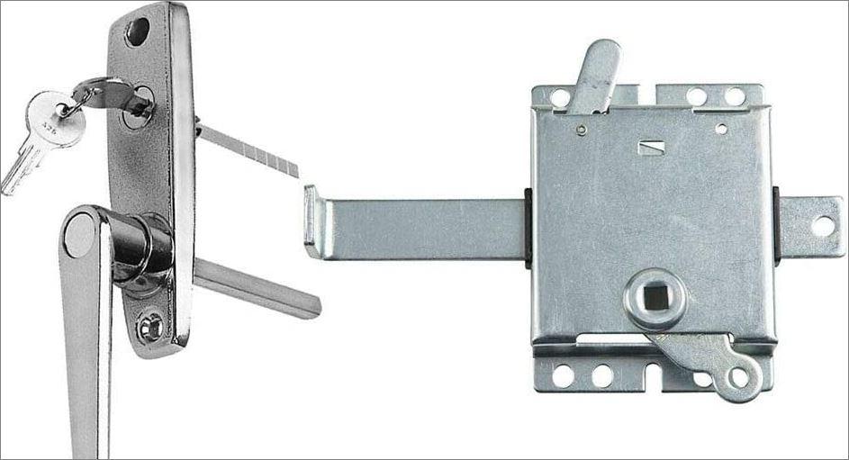 manual garage door lock