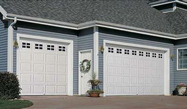Steel Door - White Square Mini Windows