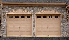 Steel Door - Tan Arches