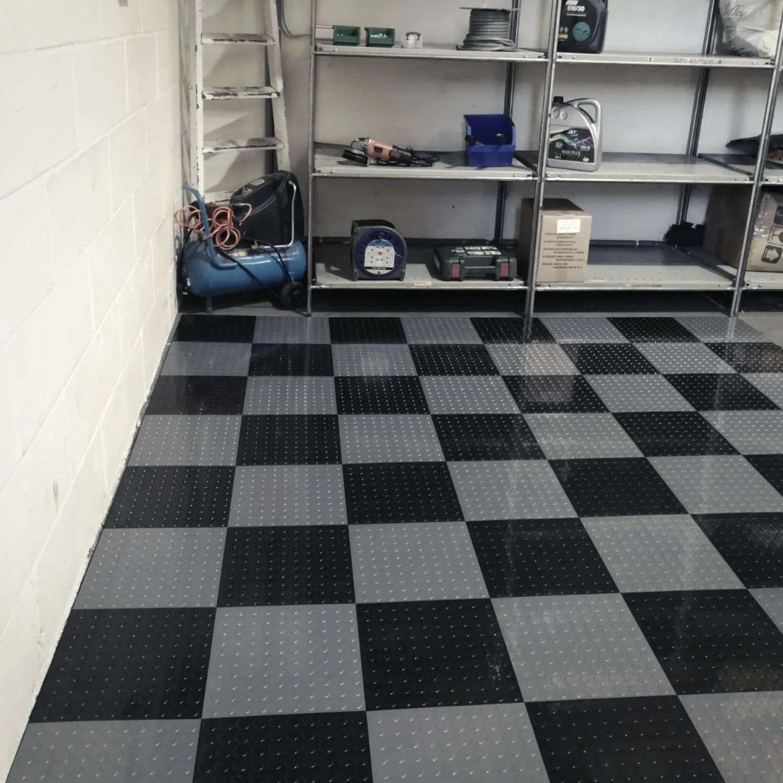coinlock garage floor tiles dark grey