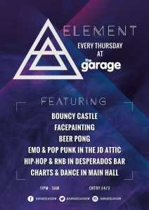 Element Thursdays at The Garage Glasgow