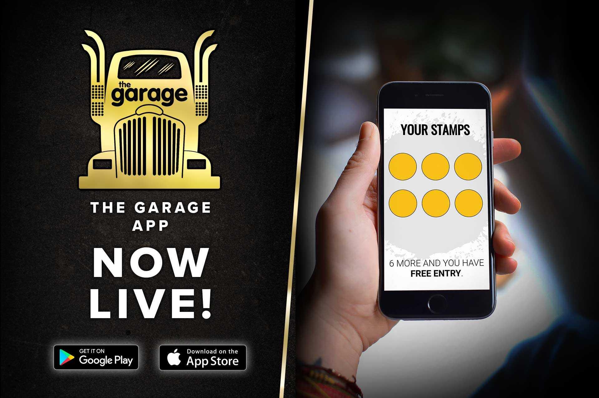 The Garage, App, Glasgow, Nightclub, Guestlist, Loyalty