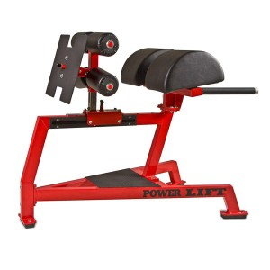 Red and Black Power Lift Half Moon Glute Ham Developer