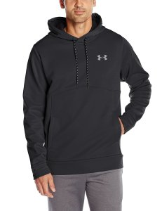 Black Under Armour Storm Hoodie on Male Model