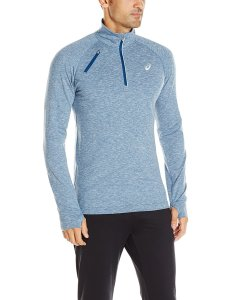 Blue Aasics Thermopolis long Sleeve on male model