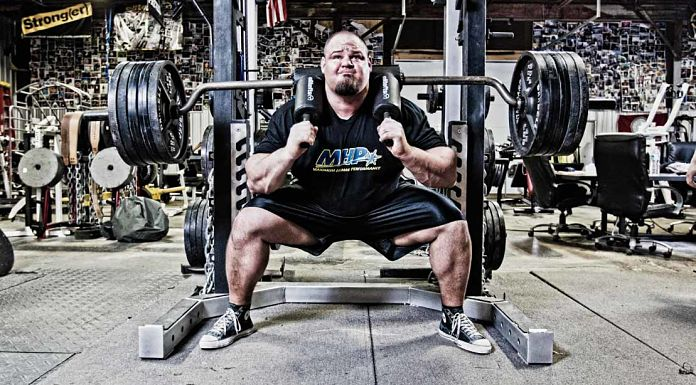 Brian Shaw EliteFTS SS Yoke Bar in Hardcore Gym