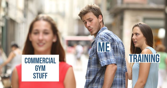 Boyfriend Distracted Girlfriend Meme Garage Gym