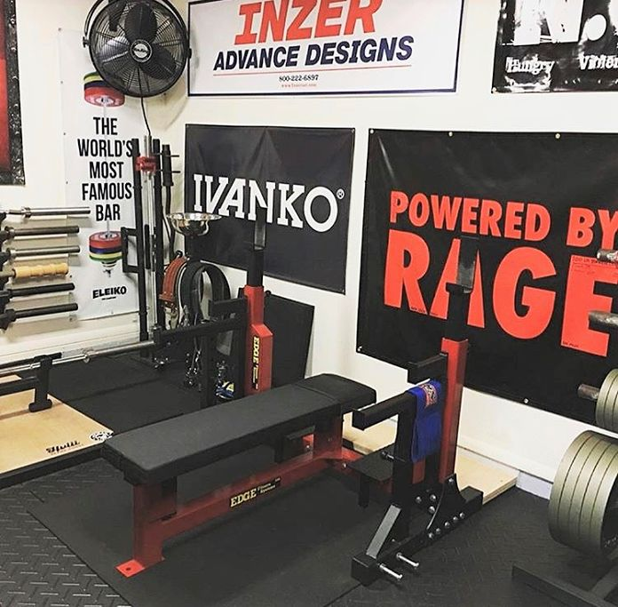 Edge Fitness Competition Bench Garage Gym