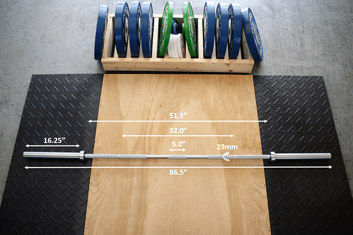 American Barbell Grizzly Power Bar Measurements Garage Gym Lab
